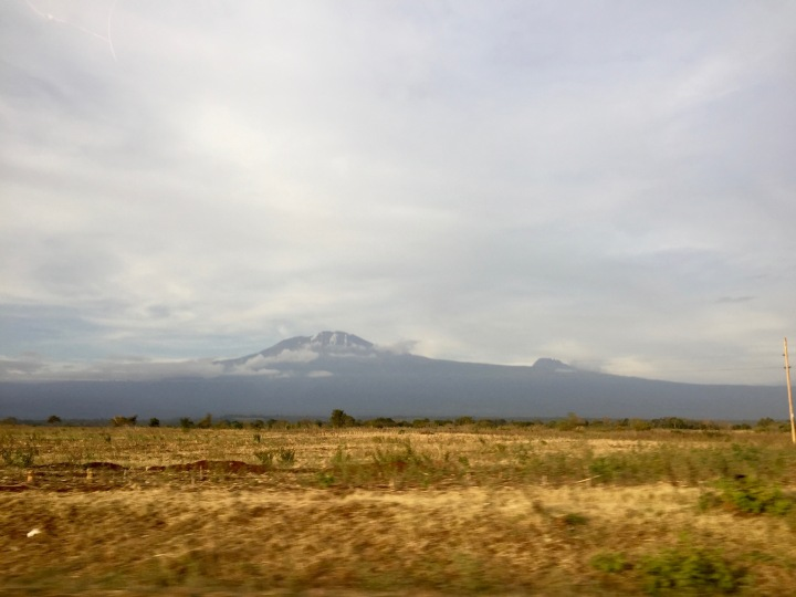 Looking back (and up) at Mount Kilimanjaro