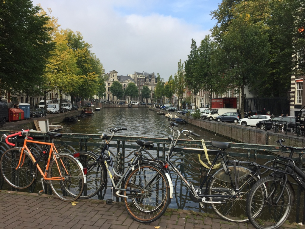 Amsterdam canals and bicycles