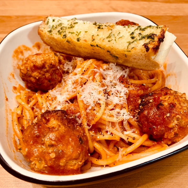 Italian-American meatballs in red sauce