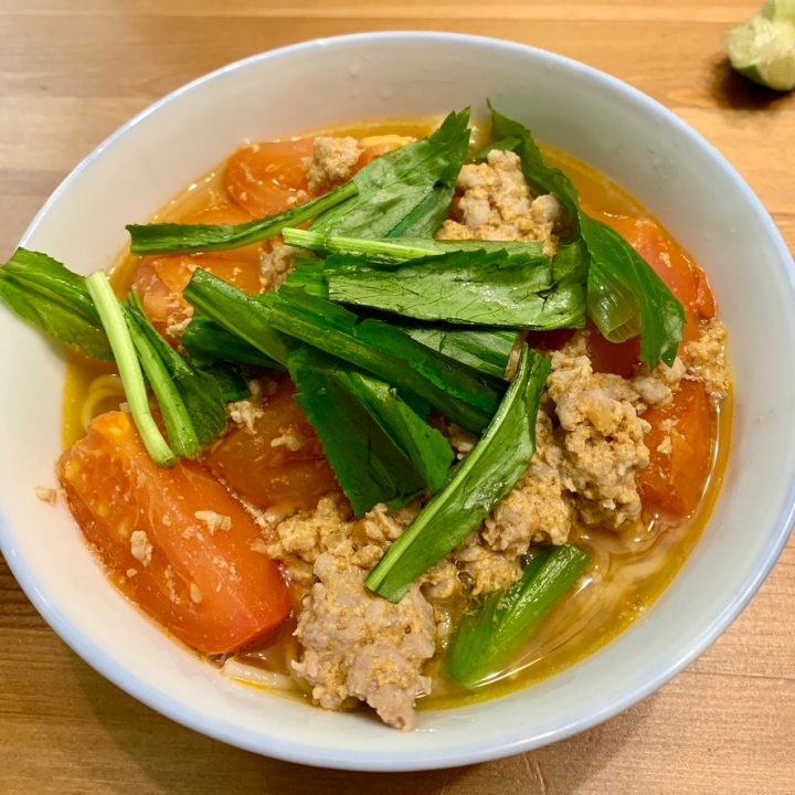 Mom's Bún Riêu Cua: Vietnamese crab and tomato soupvermicelli