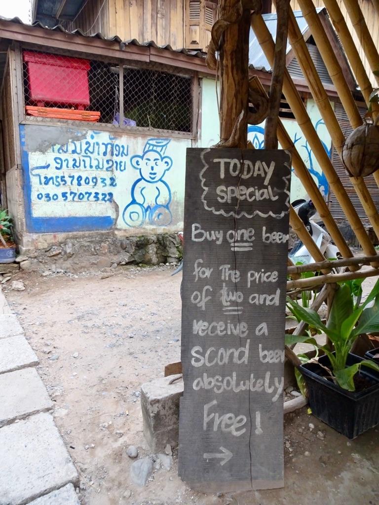 Great deals in Pakbeng, Laos.
