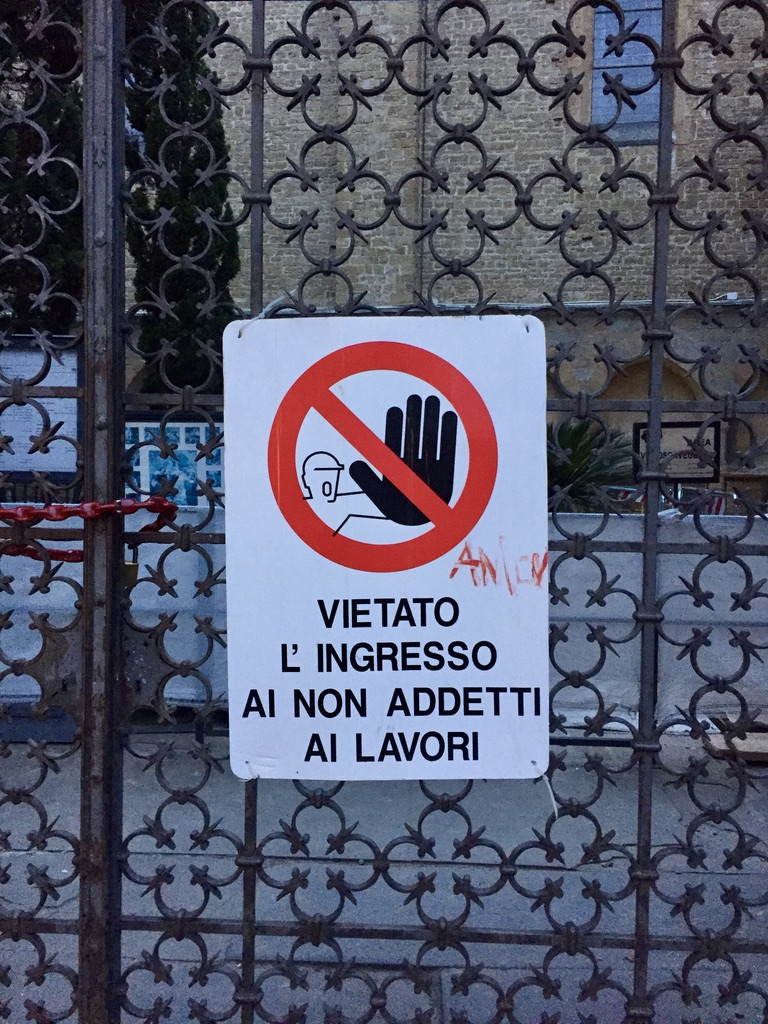 No entry! Says the angry guy in Rome.