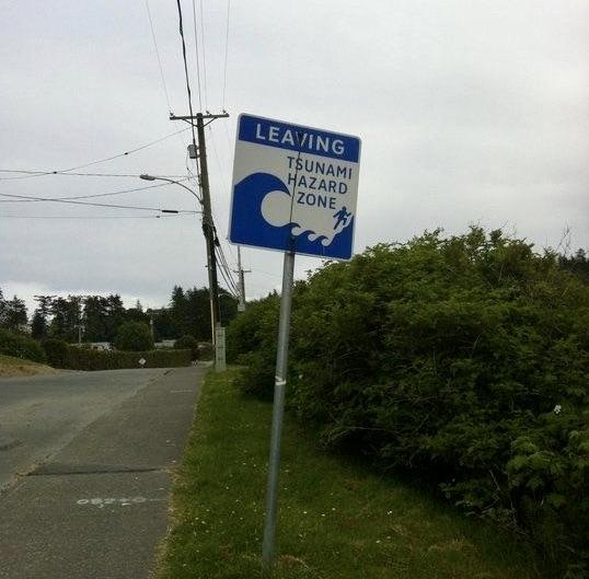 Tsunami warning in Port McNeill, British Columbia.
