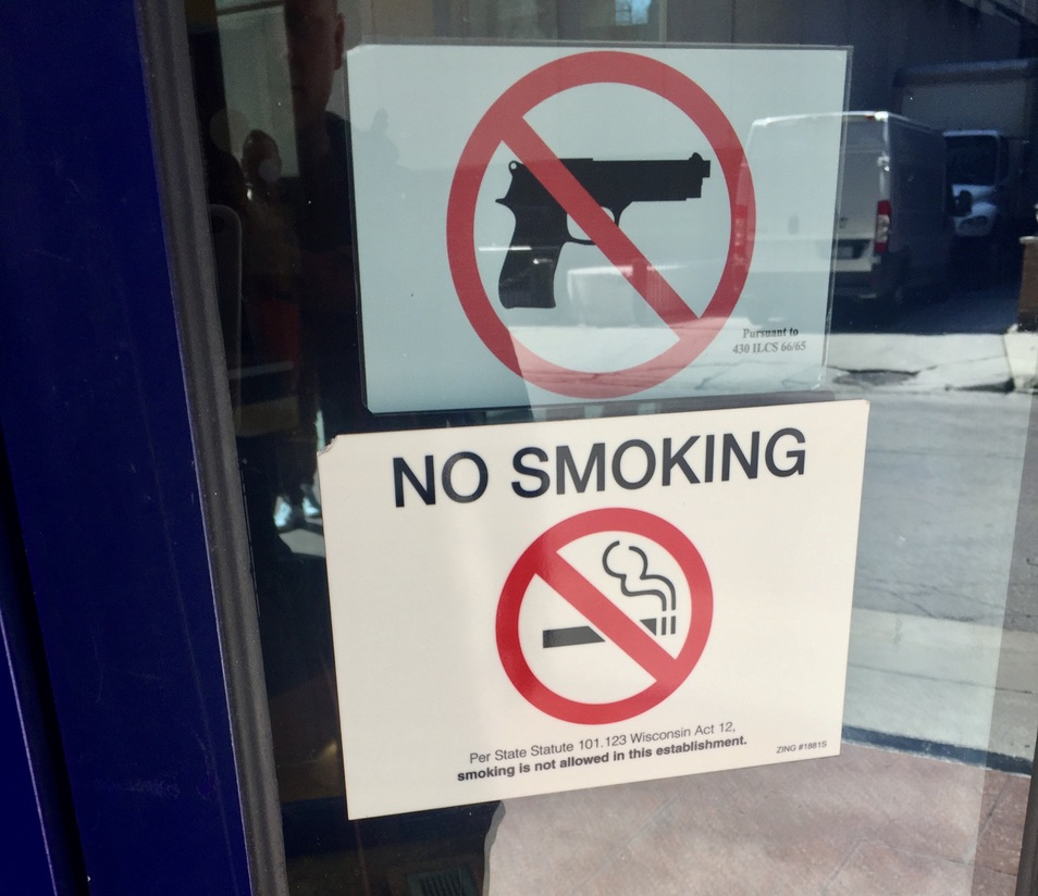 The NRA would not approve. At the Hilton Magnificent Mile, Chicago.